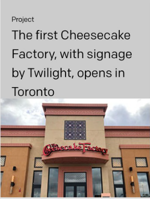 Twilight Cheesecake Factory project cover